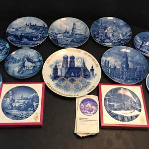 Lot # 73 - Awesome Collection Of Berlin Design & Bareuther Delft Blue Collectors Plates (See Photos)