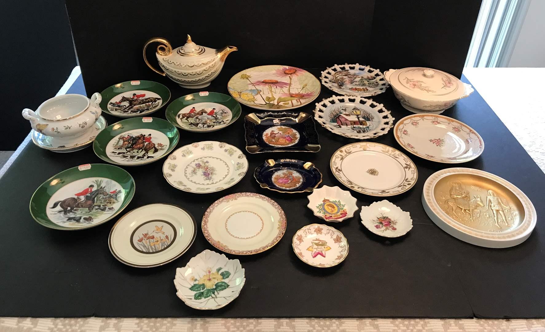 Lot # 74 - Lot Of Misc. Collectors Plates, Teapot & More (main image)