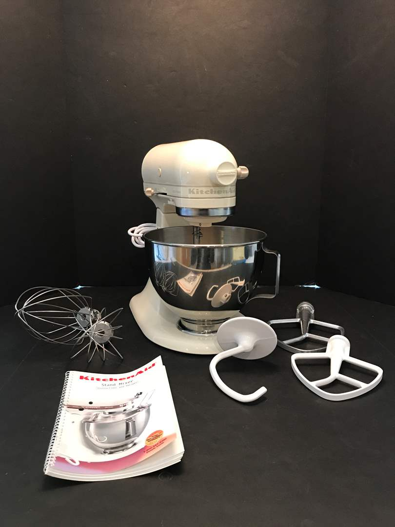 Lot # 77 - Nice Kitchen Aid Stand Mixer w/Attachments (main image)