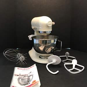 Lot # 77 - Nice Kitchen Aid Stand Mixer w/Attachments