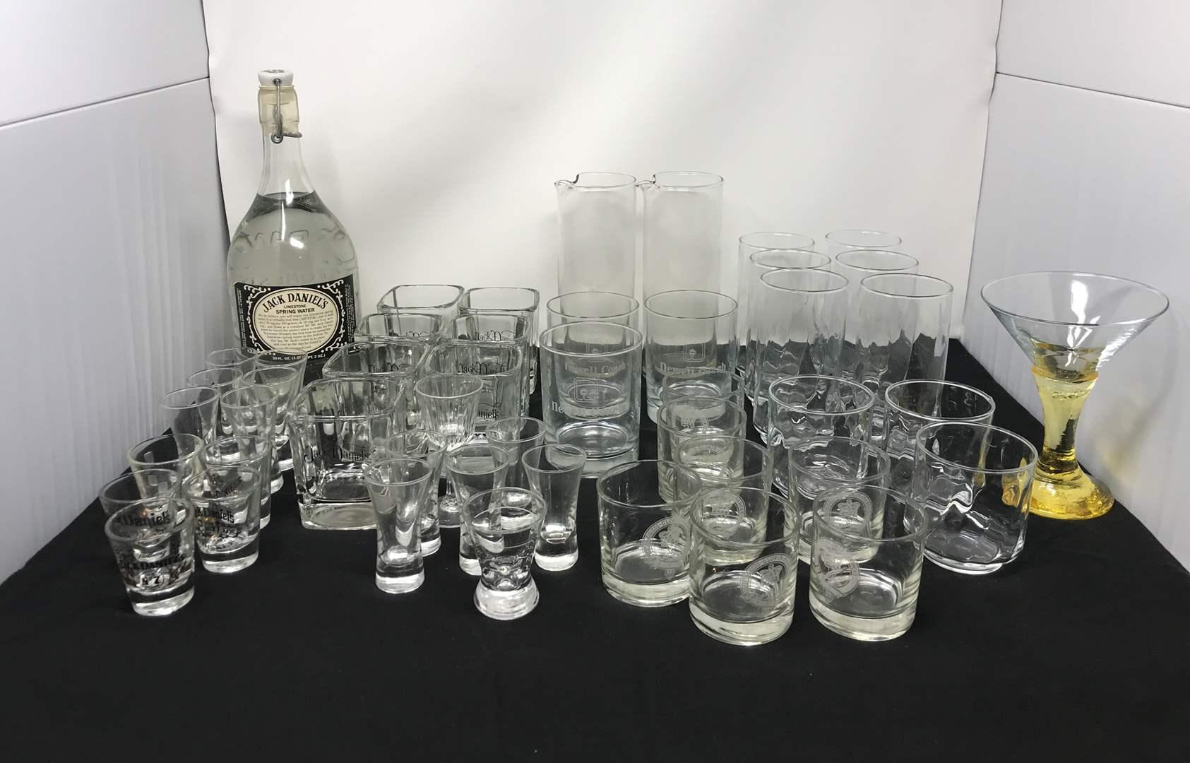 Lot # 82 - Lot Of Jack Daniels Glasses, Shot Glasses & Other Drinkware  (main image)