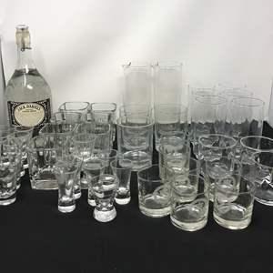 Lot # 82 - Lot Of Jack Daniels Glasses, Shot Glasses & Other Drinkware