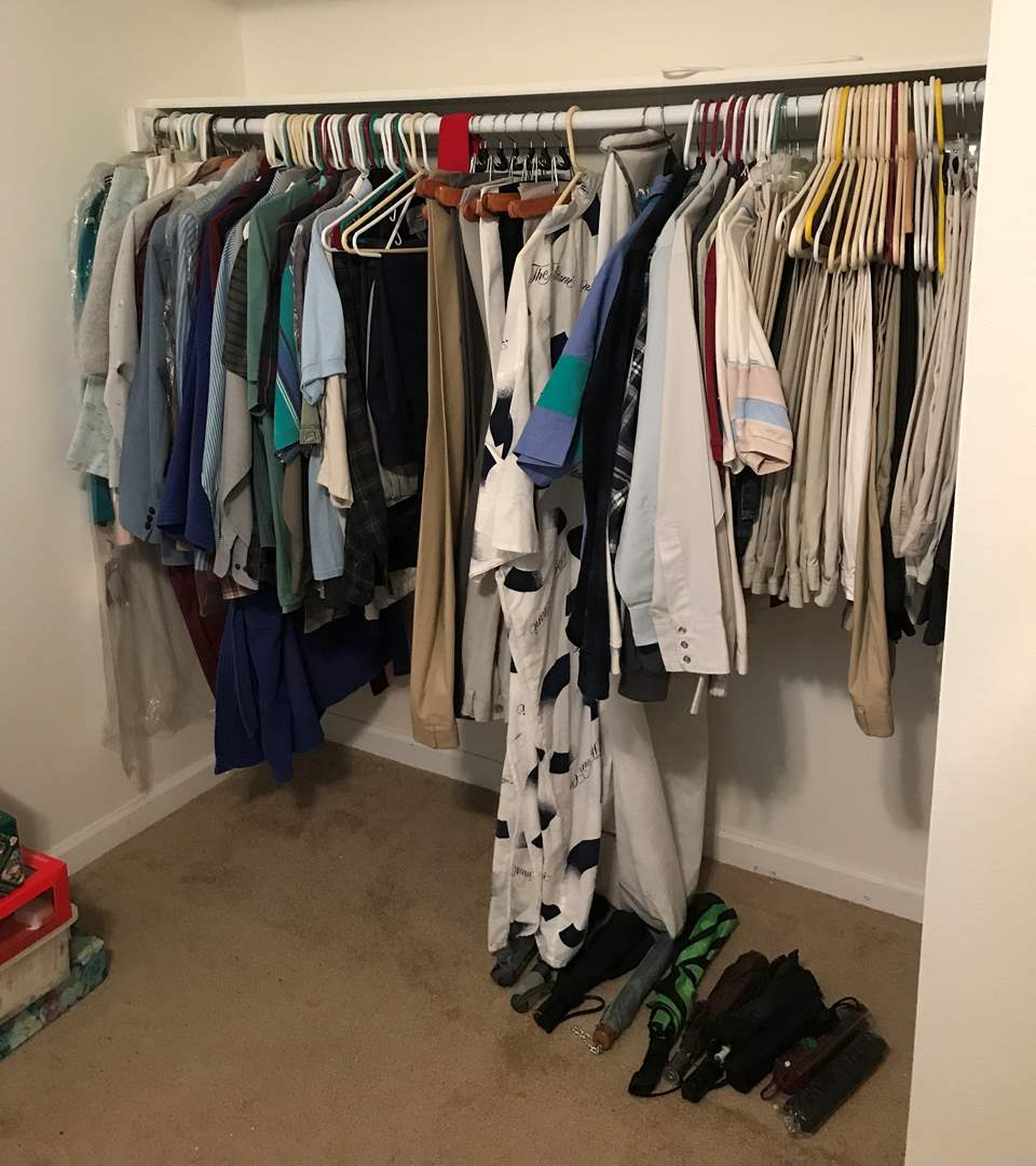 Lot # 150 - Lot Of Men's Dress Pants & Shirts, Some Women's Clothing (main image)