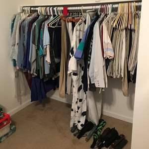 Lot # 150 - Lot Of Men's Dress Pants & Shirts, Some Women's Clothing