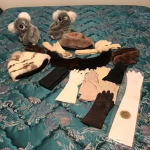 Lot # 154 - Lot Of Fur Items & Women's Gloves