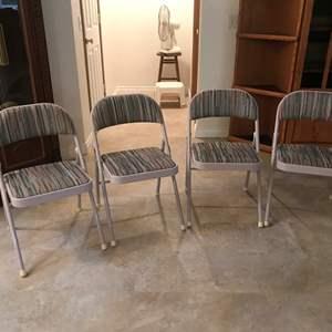 Lot # 221 - 4 Nice Folding Chairs