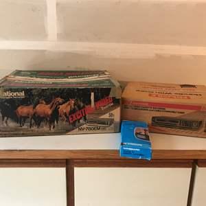 Lot # 229 - National Video Cassette Recorder Model #NV-780 & Emerson VHS Player Model #VCR765