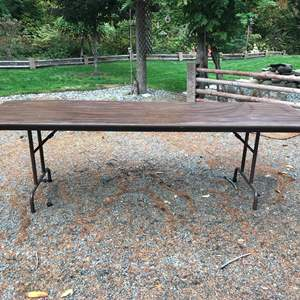"""Lot # 239 - Large Folding Table (96"""" Wide)"""