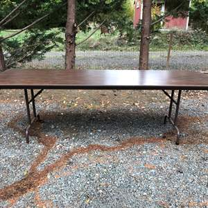 """Lot # 241 - Large Folding Table (96"""" Wide)"""