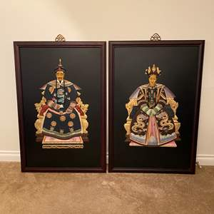 Lot # 3 - Two Beautiful Pieces of Large 3-D Asian Artwork