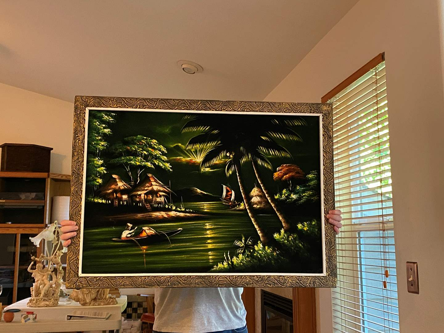 """Lot # 4 - Awesome Original Painting on Felt from the Philippines by Lina Aizcarra-Oan Dasan - (39"""" x 27.5"""") (main image)"""