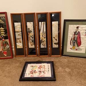 Lot # 8 - Seven Pieces of Original Artwork of Various Sizes