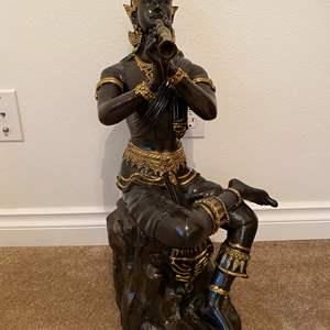 "Lot # 11 - Large Heavy Bronze Asian Sculpture - (24""tall)"