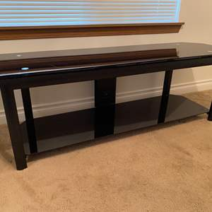 Lot # 19 - Tempered Glass TV Stand