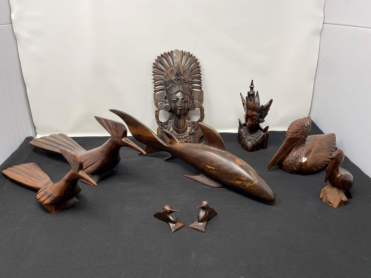 Lot # 26 - Collection of Hand Carved Wood Items (main image)