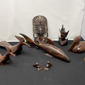 Lot # 26 - Collection of Hand Carved Wood Items