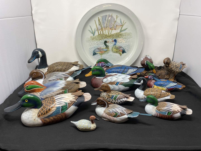 Lot # 28 - Handmade Wood Ducks (main image)