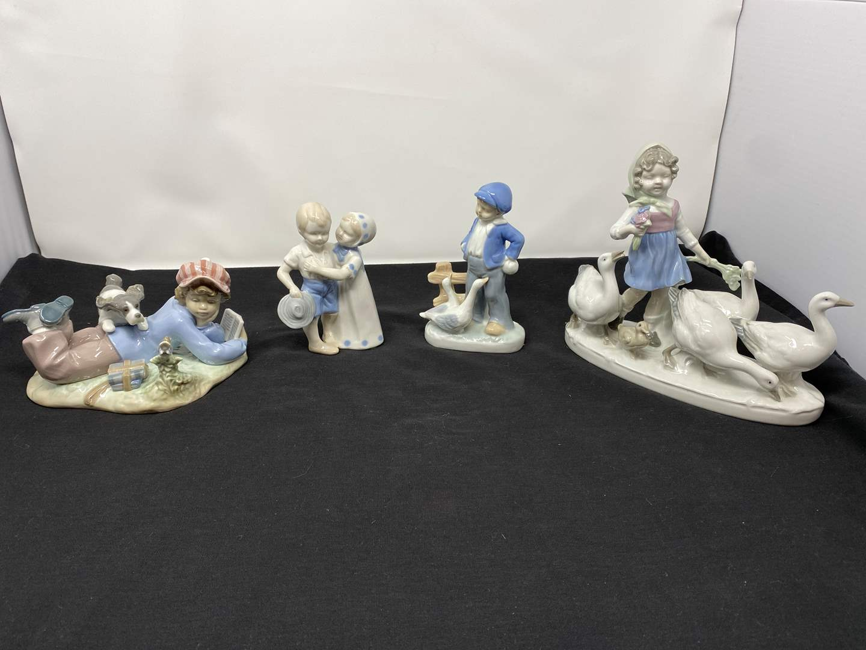 Lot # 30 - Lladro (Study Buddies) & Lladro Like Figurines  (main image)