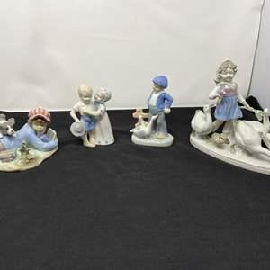 Lot # 30 - Lladro (Study Buddies) & Lladro Like Figurines