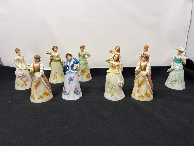 Lot # 34 - Ten Enesco Bell Figurines (main image)