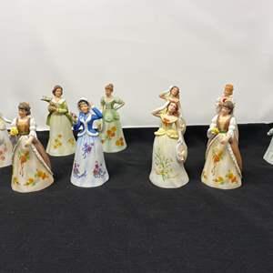 Lot # 34 - Ten Enesco Bell Figurines