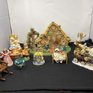 Lot # 35 - Collection of Misc. Figurines w/ Large Glass Diamond