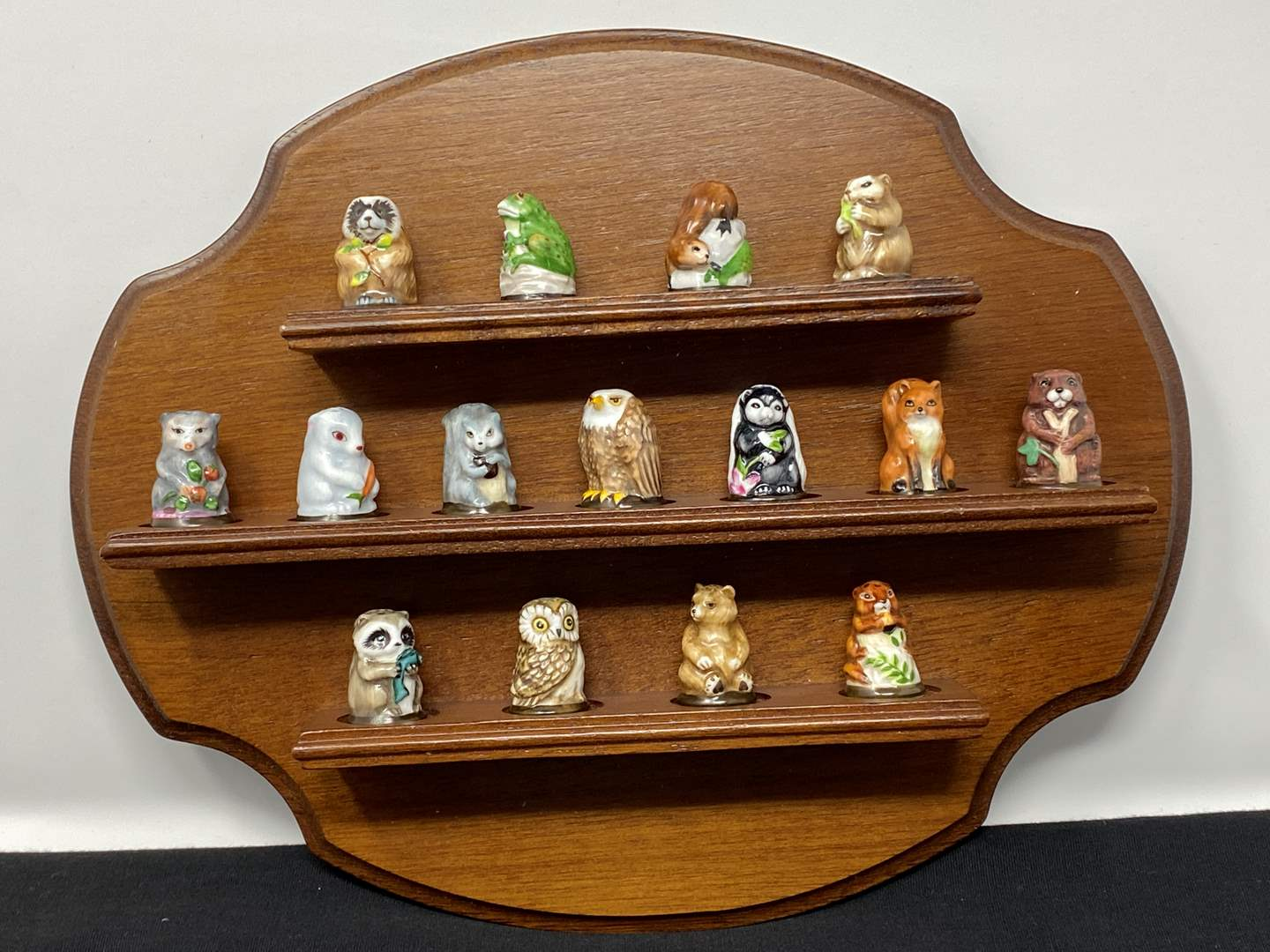"""Lot # 36 - Vintage Franklin Mint """"Friends of the Forrest"""" Thimble Collection (main image)"""