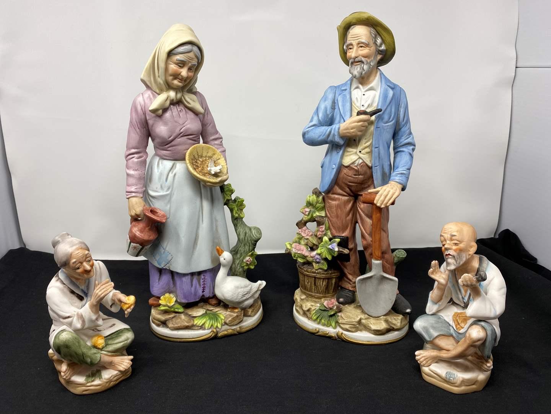 Lot # 38 - Four Vintage Ceramic Figurines (main image)
