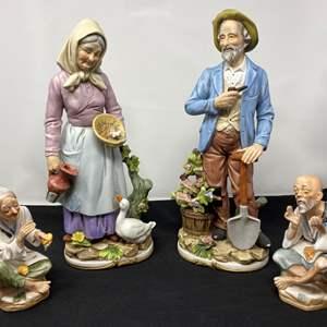 Lot # 38 - Four Vintage Ceramic Figurines