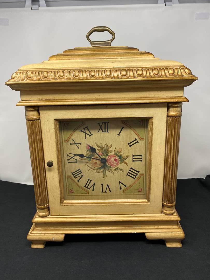 """Lot # 41 - Decorative """"Ethan Allen"""" Mantle Clock (main image)"""
