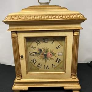 """Lot # 41 - Decorative """"Ethan Allen"""" Mantle Clock"""