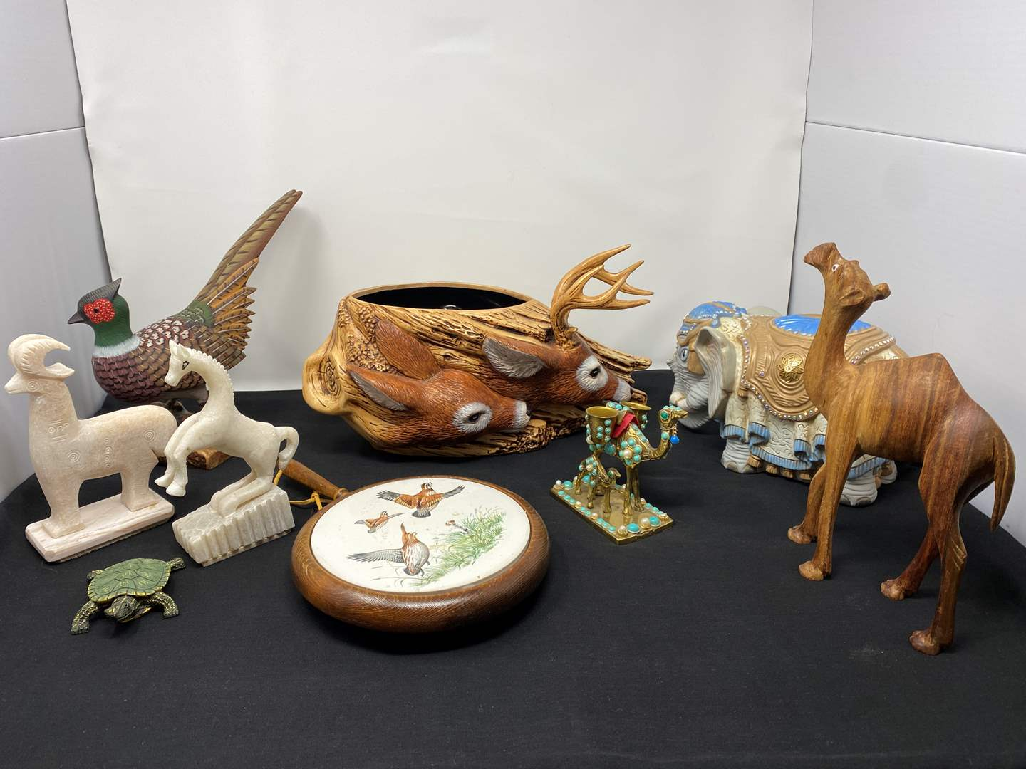 Lot # 45 - Collection of Vintage Animals Made from Different Materials (main image)