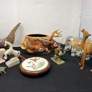 Lot # 45 - Collection of Vintage Animals Made from Different Materials