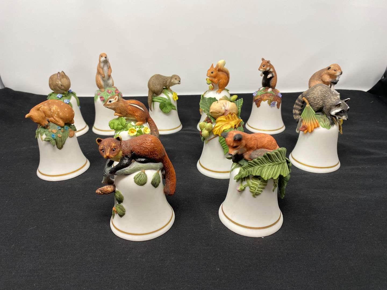 Lot # 101 - Twelve Vintage Animal Bells by Peat Barnett? (main image)