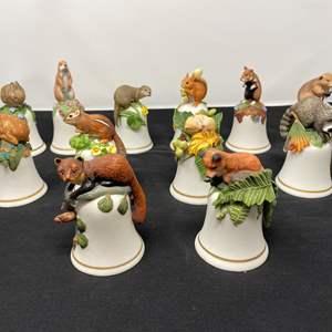 Lot # 101 - Twelve Vintage Animal Bells by Peat Barnett?