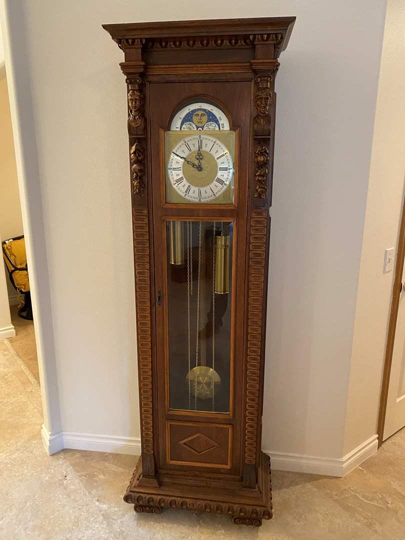 "Lot # 109 - Beautiful ""Urgos"" Grandfather Clock (main image)"