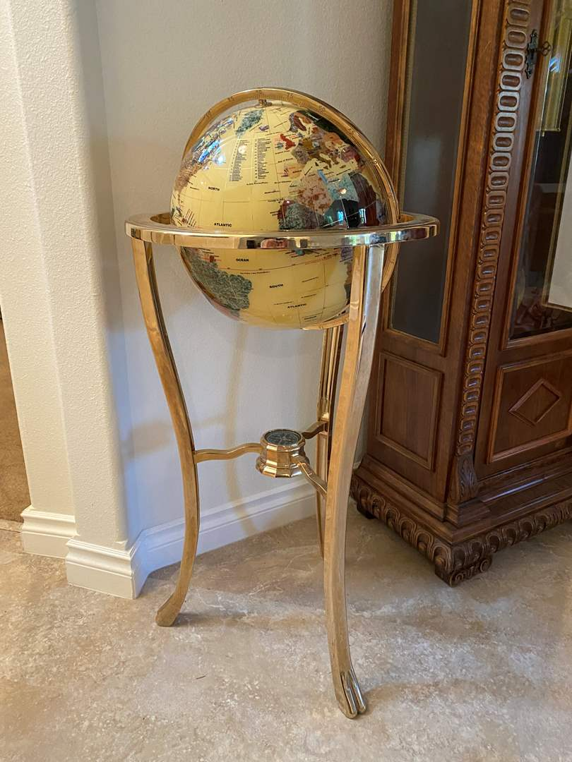 "Lot # 110 - The World's Finest Gemstone Globe by Alexander Kalifano - (36"" tall) (main image)"
