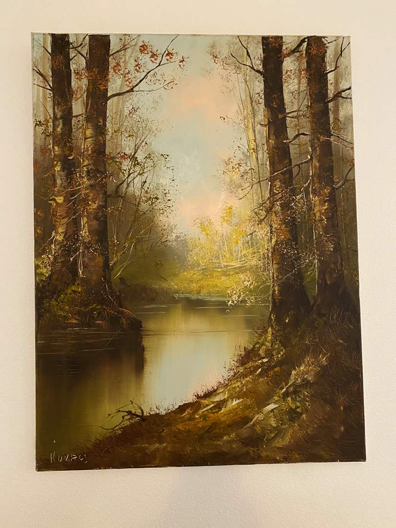 Lot # 114 - Original Oil on Canvas by Kovacs (main image)