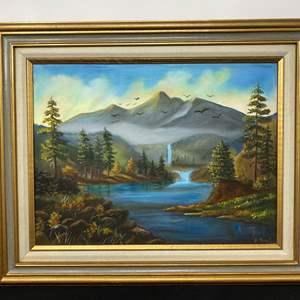 Lot # 115 - Original Oil in Canvas by B. Scott