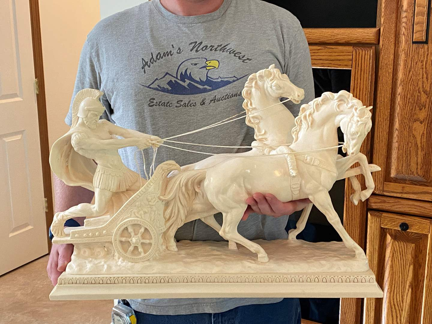 Lot # 126 - Awesome Large Alabaster Italian Signed Sculpture by A. Santini (main image)