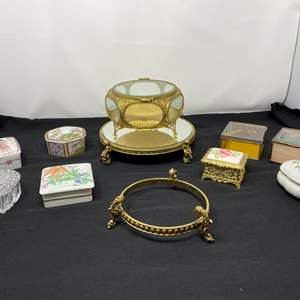 Lot # 127 - Nice Collection of Vintage Trinket Boxes