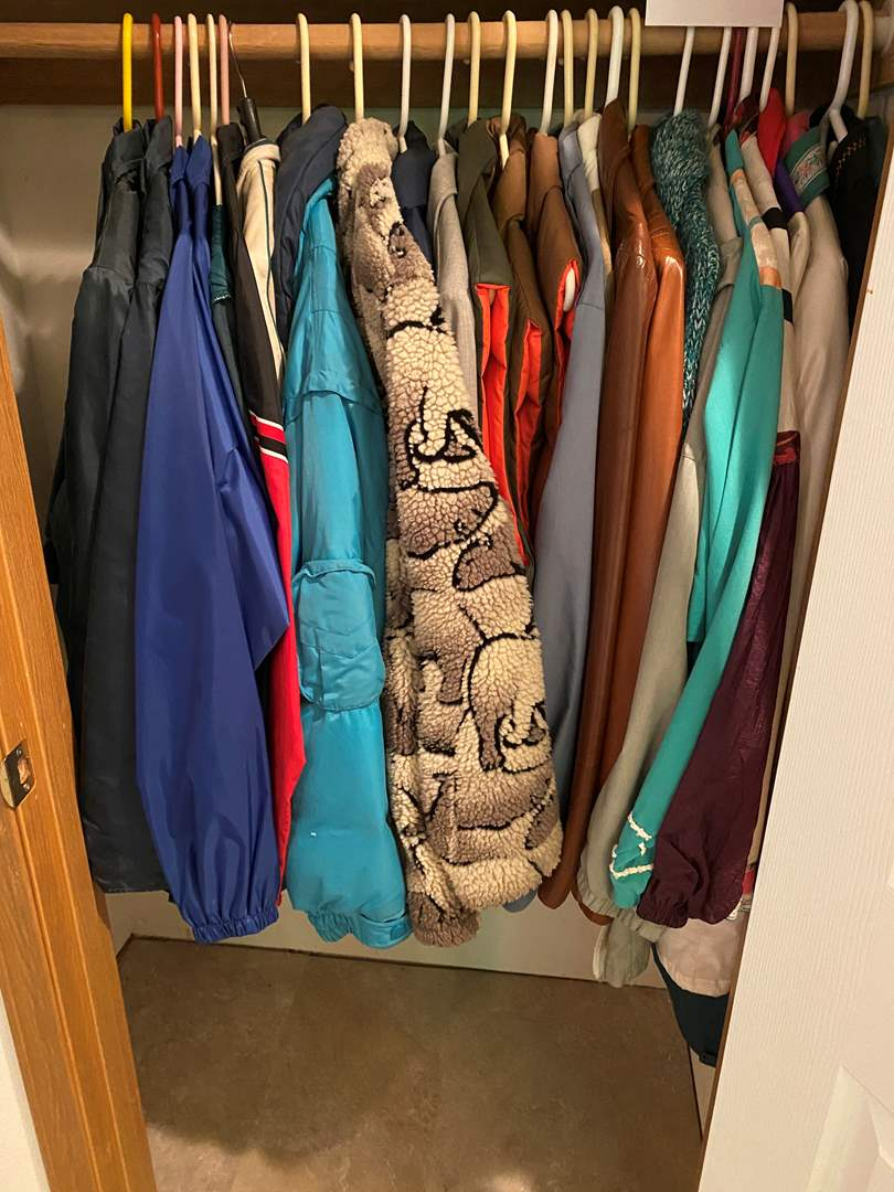 Lot # 144 - Closet of Vintage Men's & Woman's Jackets & Vests - (See Pictures for Sizes & Brands) (main image)
