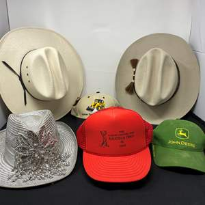 """Lot # 147 - """"Bailey"""" Executive Beaver Hat (7-1/4), ShangJung 20-Star Hand-Woven Cowboy Hat (7-1/8), Woman's Cowgirl Hat & More"""
