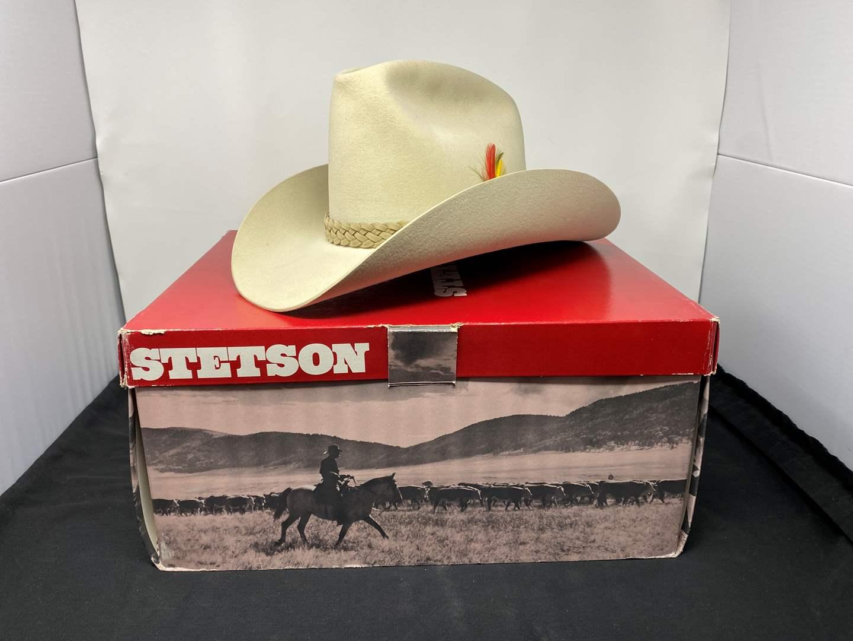 "Lot # 148 - Nice 5-Star Stetson ""Line Rider"" Cowboy Hat (Size  6-7/8) (main image)"