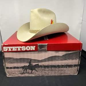 "Lot # 148 - Nice 5-Star Stetson ""Line Rider"" Cowboy Hat (Size  6-7/8)"