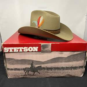 """Lot # 149 - Nice Four Star Stetson """"Stampede"""" Cowboy Hat - (Size 7)"""