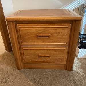 Lot # 160 - Lea Furniture Two Drawer Side Table