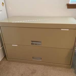 Lot # 163 - Large Metal Two Drawer File Cabinet