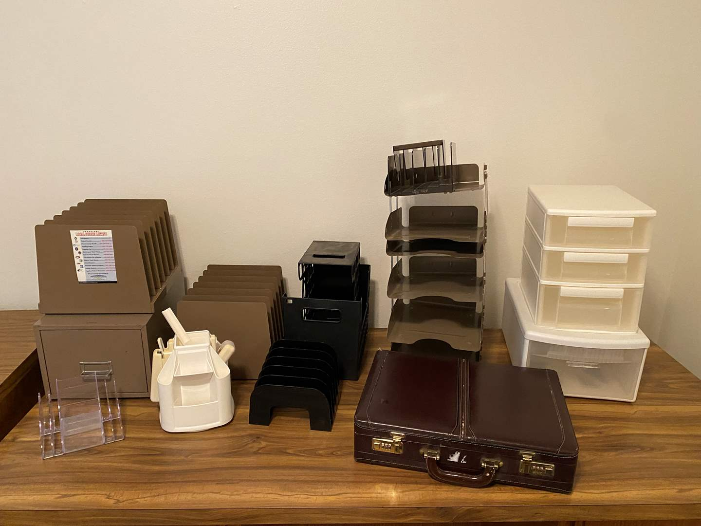 Lot # 166 - Paper Organizers, Briefcase & More (main image)