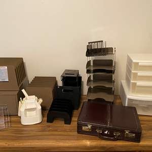 Lot # 166 - Paper Organizers, Briefcase & More
